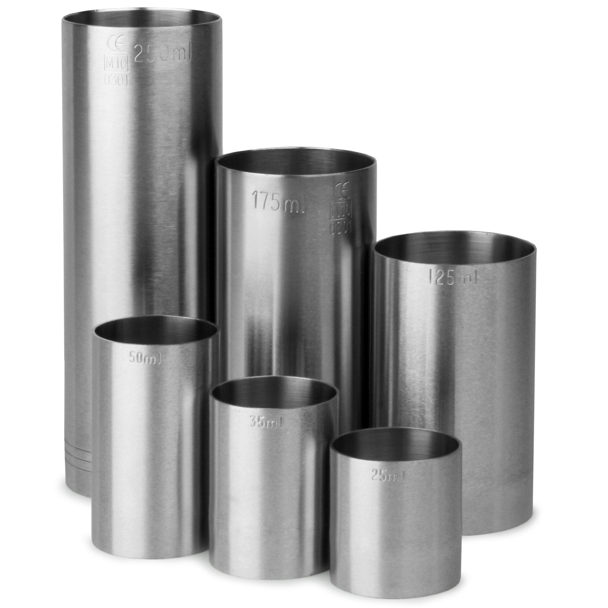 Stainless Steel Thimble Bar Measures 6 Piece Bundle Set