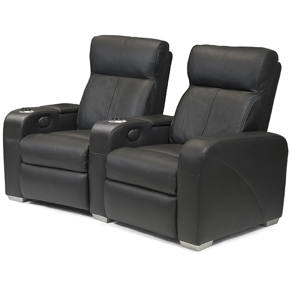Premiere Home Cinema Seating  2 Seater Black  Cinema