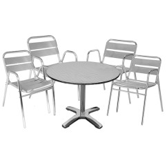 Outdoor Bistro Table And Chairs Set Aluminum Sling Drinkstuff