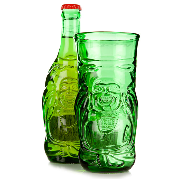 Lucky Buddha Beer Bottle Glass 116oz  330ml  Drinkstuff