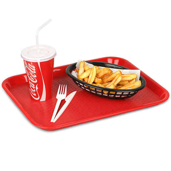 Fast Food Tray Small Red 10 x 14inch  Food Trays Canteen