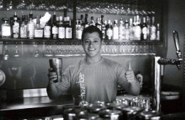Jeremy behind the bar in St Kinda in Melbourne, Australia. Photo courtesy of Jeremy Scott Foster
