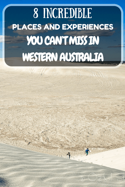 There is more to Western Australia than Perth, Rottnest Island and Margaret River. These incredible places are definitely worth the visit!