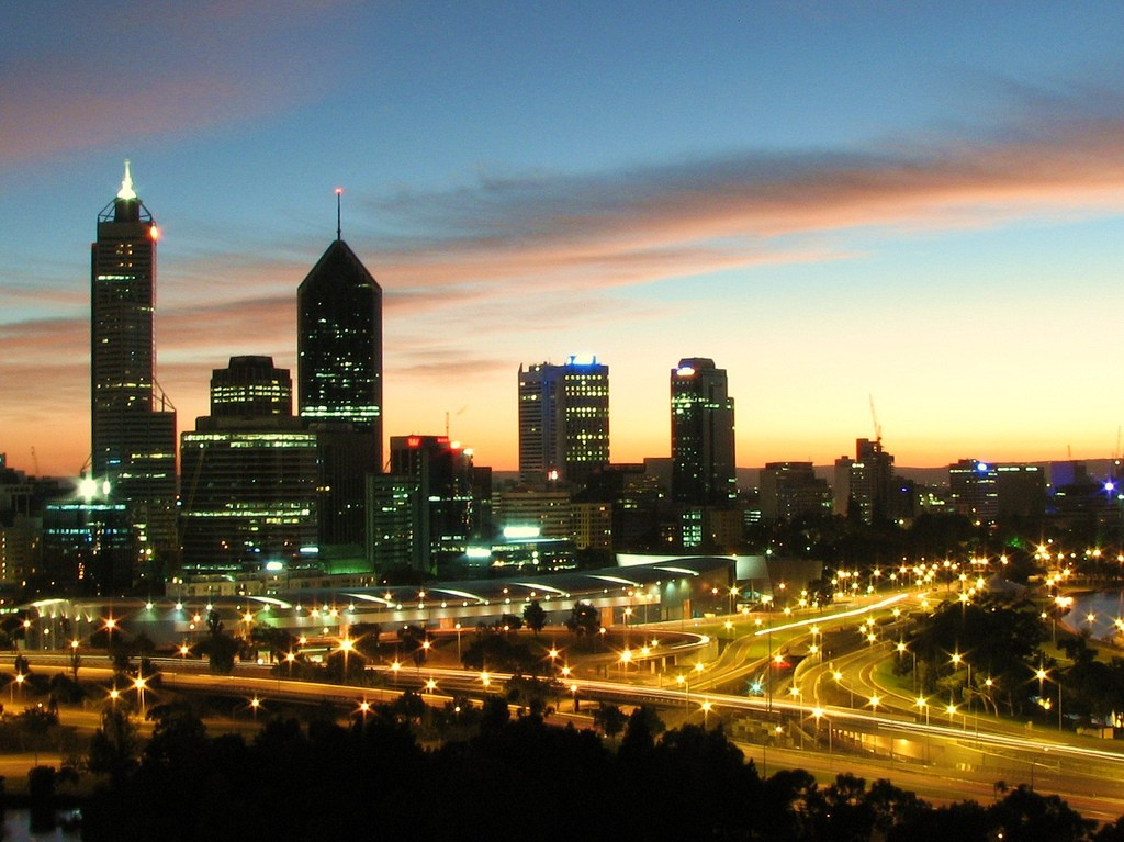 Perth Sunrise from Kings Park. Photo via Flickr CC Ross Websdale