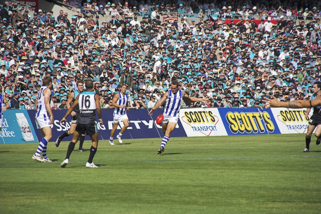 Australian Rules Football (AFL) game in Adelaide
