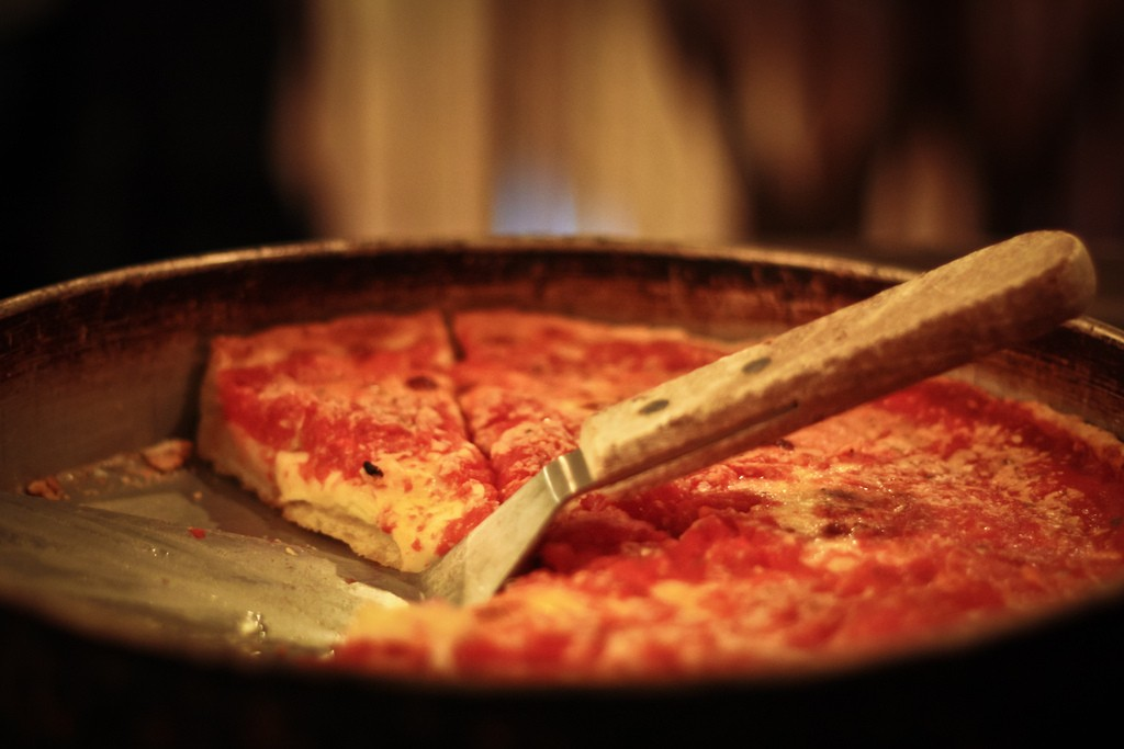 Deep-dish at Lou Malnati's. Photo by Sara B. via Flickr CC