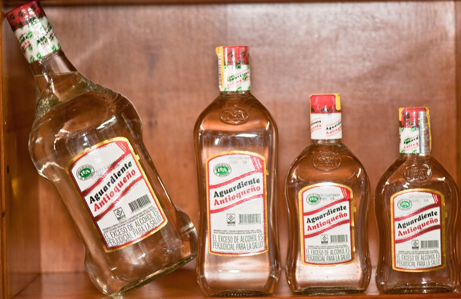 Aguardiente. Colombia food