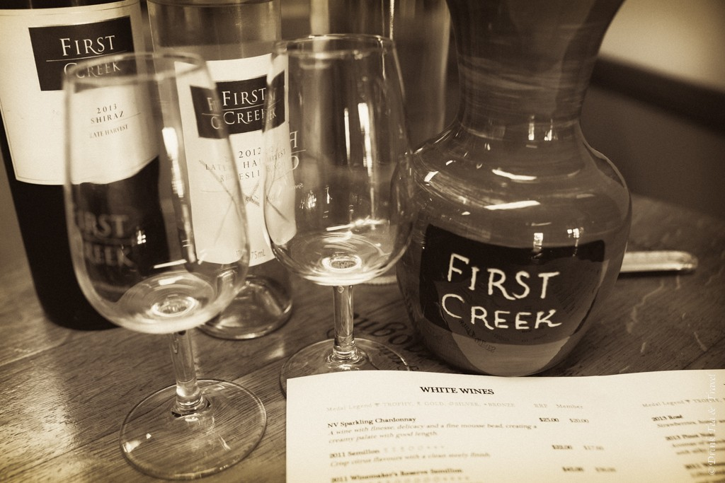 First Creek Winery tasting in Hunter Valley, NSW, Australia