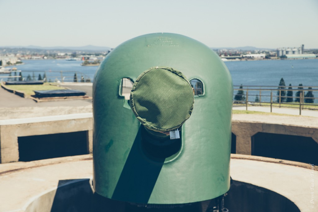 Turret cannon at the top of Fort Scratchley. Newcastle, Australia
