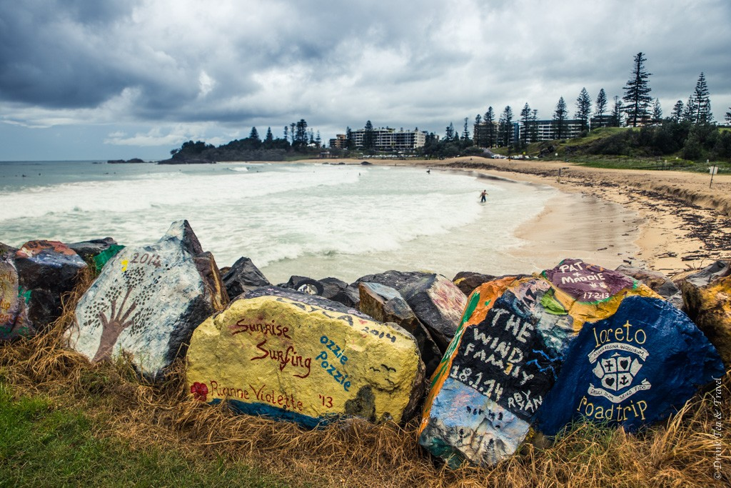 The rocks and the Town Beach, Port Macquarie, NSW