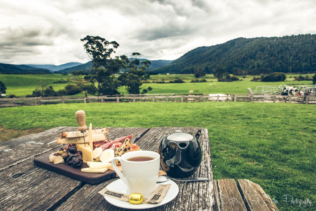 Local produce, tea and one hell of a view at the Holy Cow cafe in a small town of Pyengana, located 2 hours east of Launceston. Tasmania
