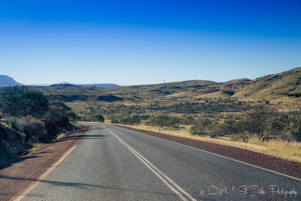 Never ending road in Western Australia