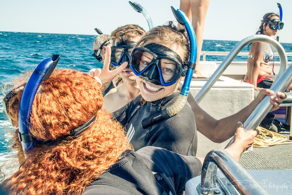 Ready for our first snorkel! Ningaloo Reef. Exmouth. Western Australia