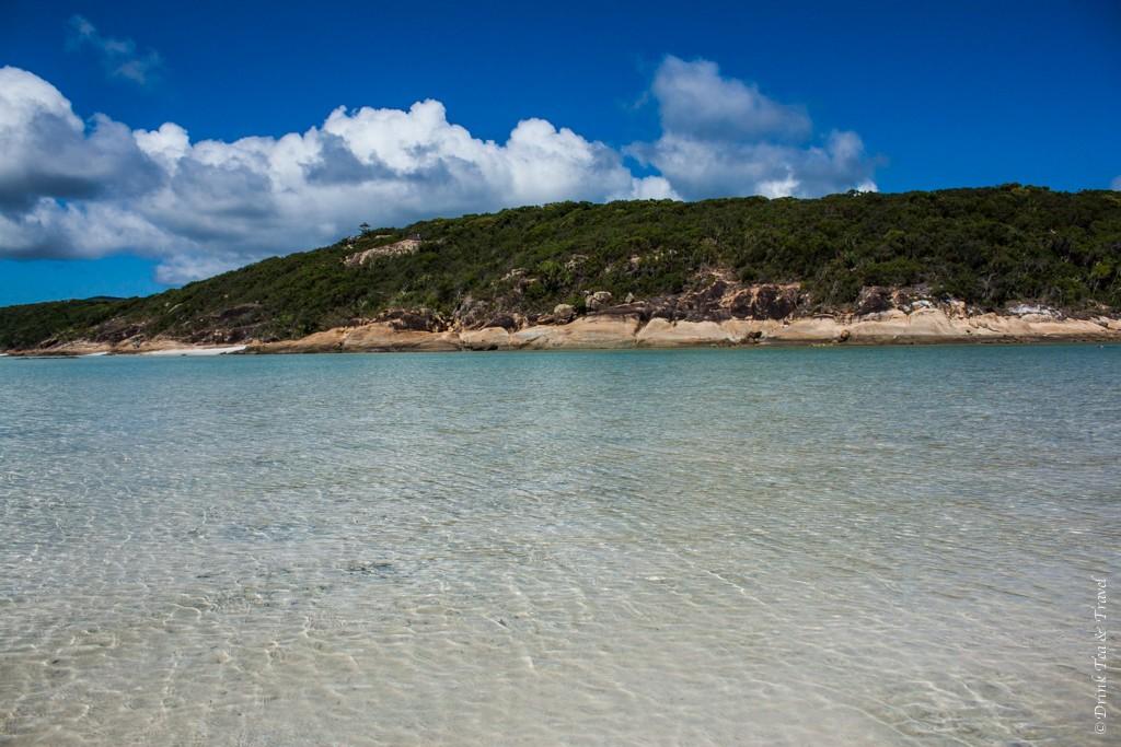 Whitsunday Islands National Park in the background. Sailing Whitsundays. Australia