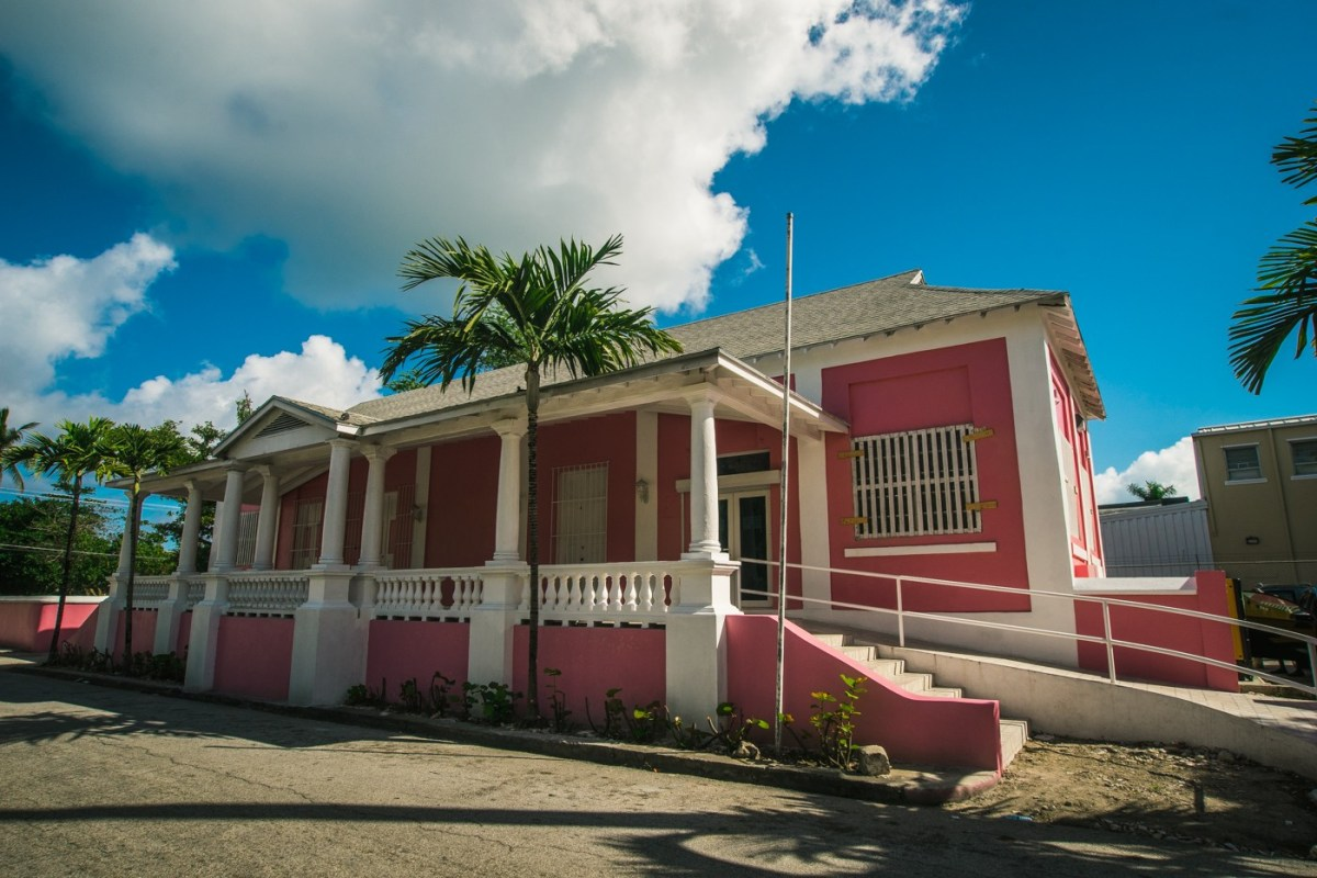 Colonial architecture in Nassau. Bahamas