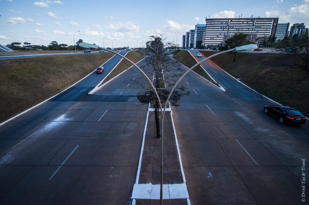 Symmetrical roads in Brasilia, Brazil