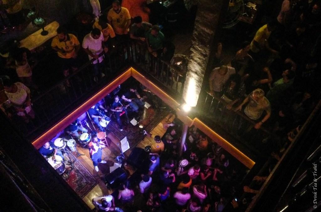 Inside Rio Scenarium club in Lapa, Rio de Janeiro