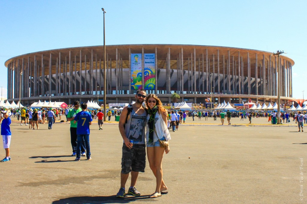 Max and I at the France vs Nigeria World Cup game in Brasilia, Brazil