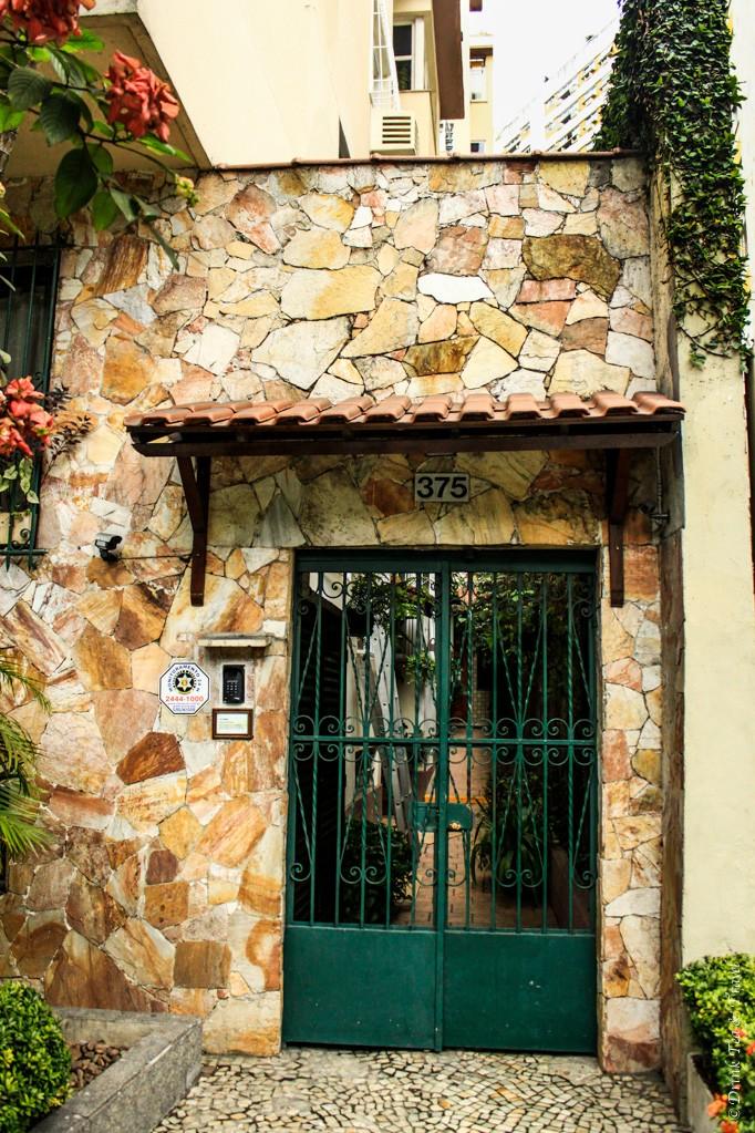 Entrance into our apartment building in Leblon, Rio de Janeiro.