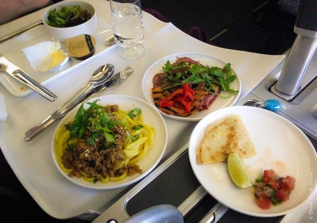 Appetizers in Qantas Business Class