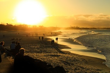 Sunset on Byron Bay Main Beach