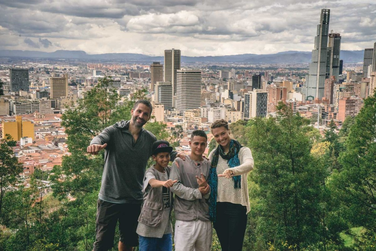 Travel in Colombia: Local boys from Barillo Egypto in Bogota