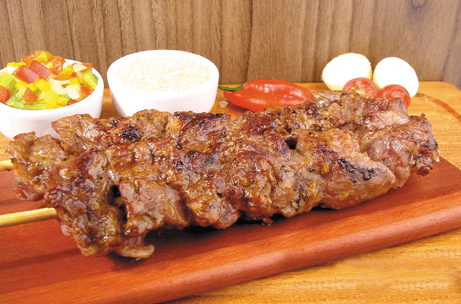 Brazilian dishes: churrasco cordeiro