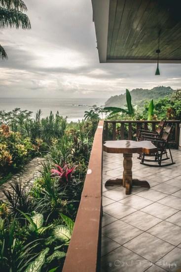 View from El Avion Restaurant. Manuel Antonio