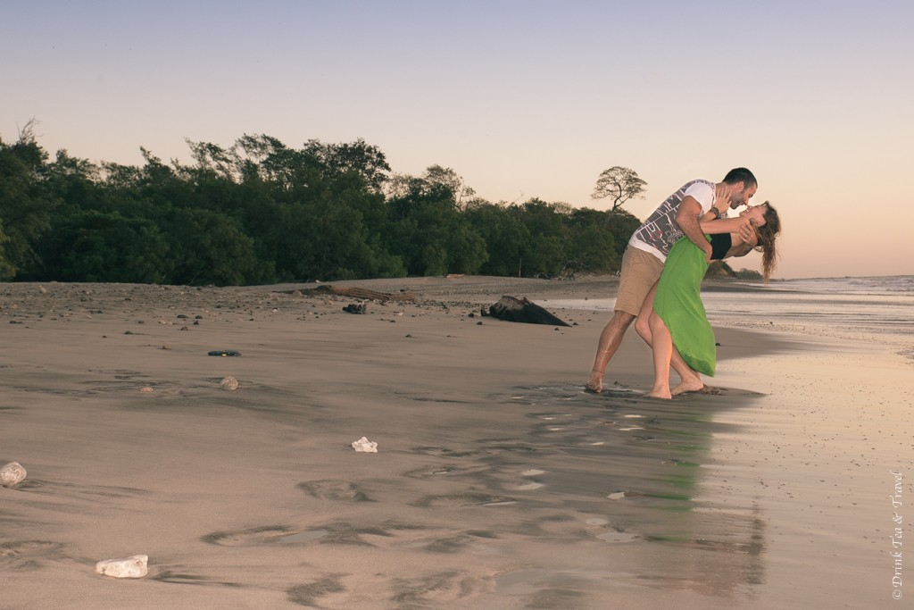 Max and I on a beach in Costa Rica