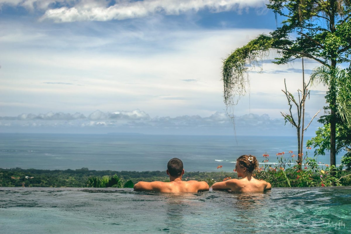 Max & Oksana in Infinity Pool at Oxygen Jungle Villas in Uvita, Costa Rica