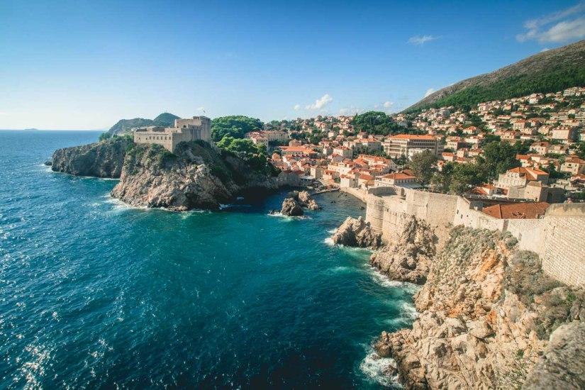Rocky coastline in Dubrovnik