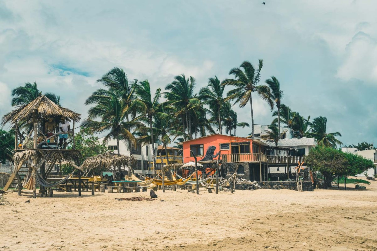 Beach bar on Isabela Island