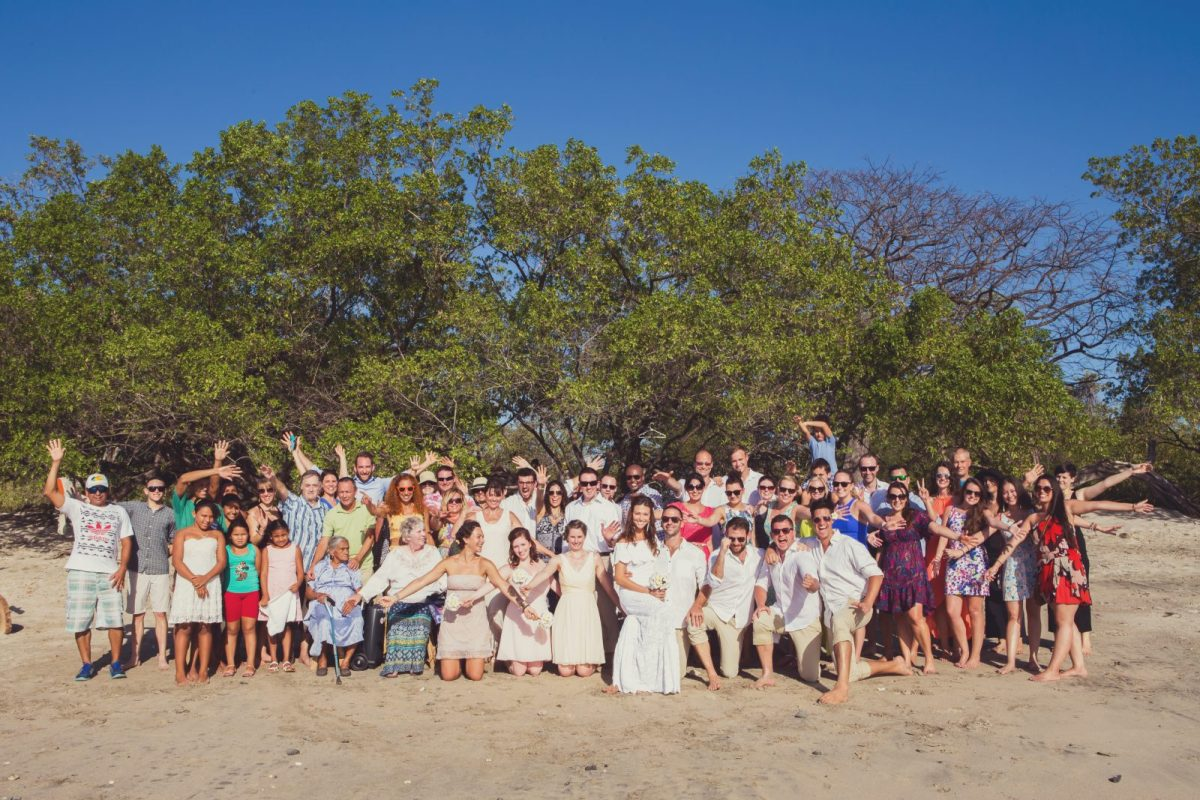 Friends and family at our wedding. Costa Rica