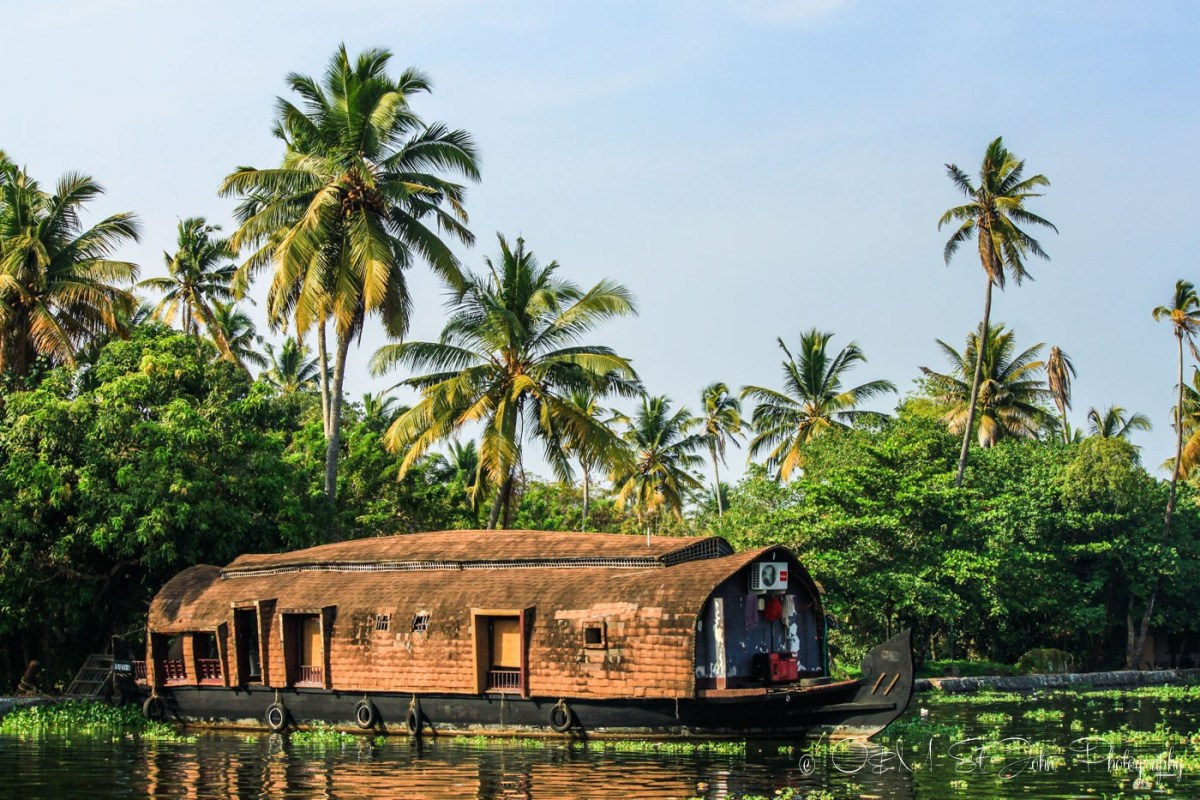 Kettuvallams (house boat) in Kerala Backwaters, India