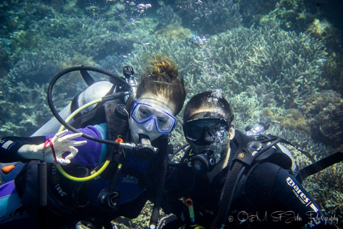 Max & Oksana diving in Komodo National Park, Flores, Indonesia
