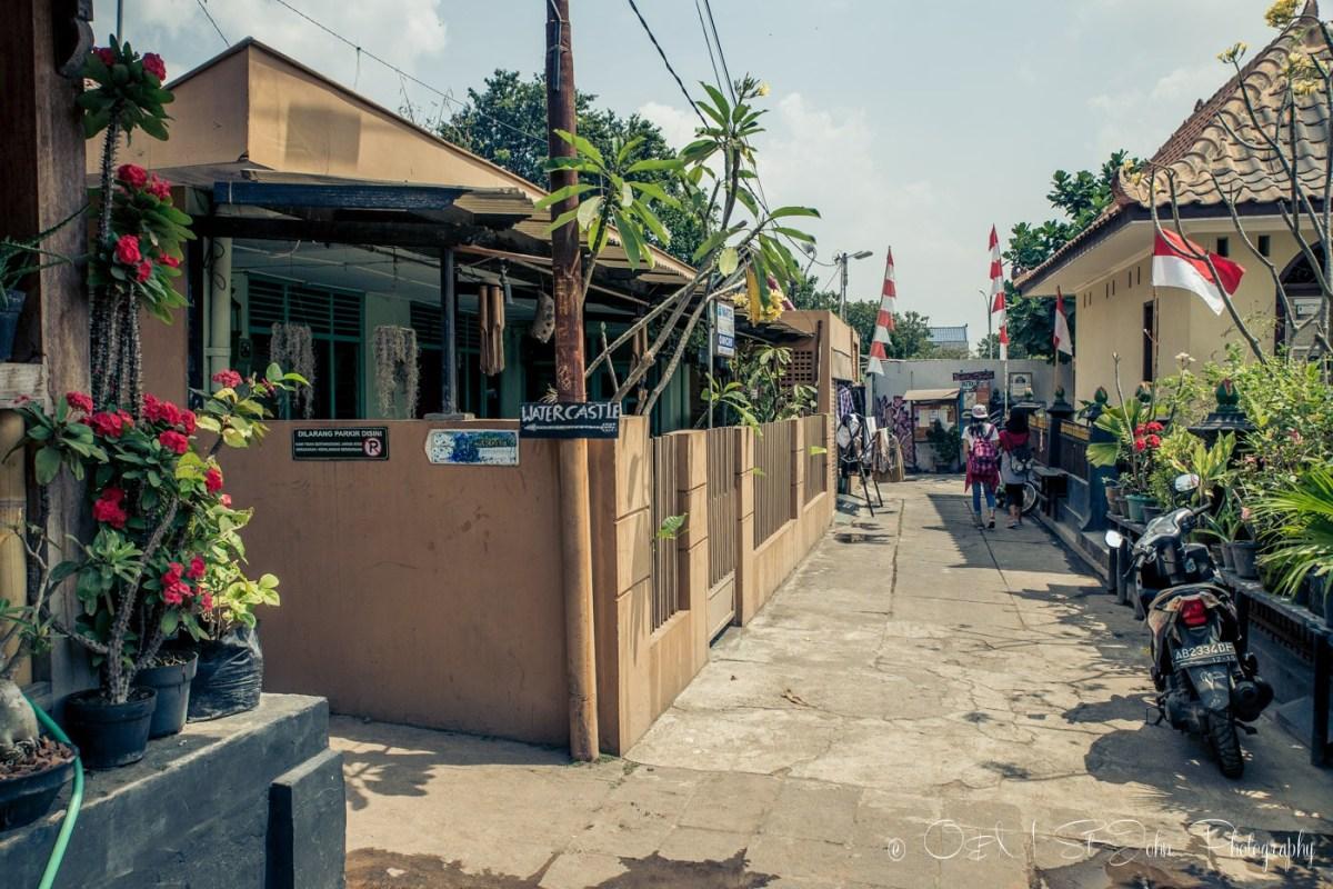 Small street near Taman Sari, Yogyakarta. Indonesia