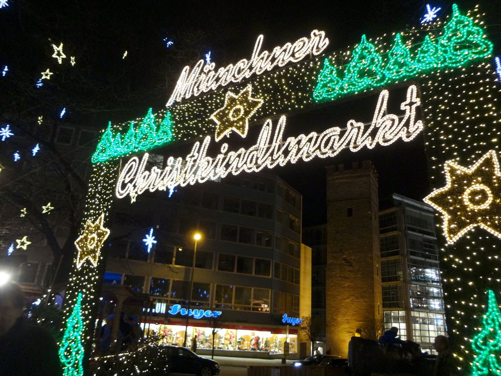 Munich Christmas Market Sign , Munich, Germany