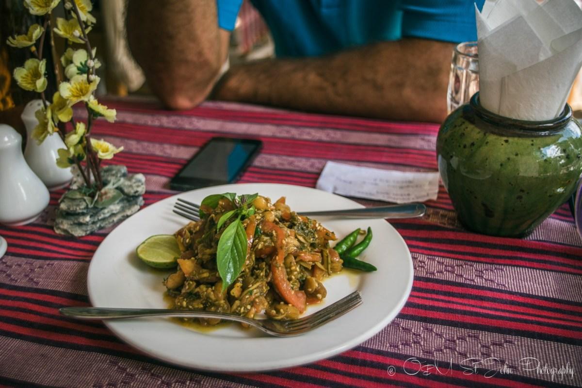 Tea leaf salad, a Burmese specialty. Myanmar