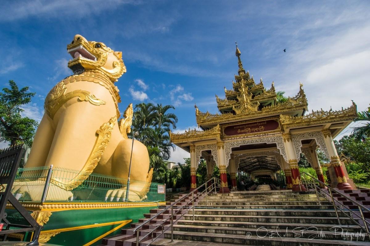 Entrance to Shwedagon Pagoda. Yangon. Myanmar