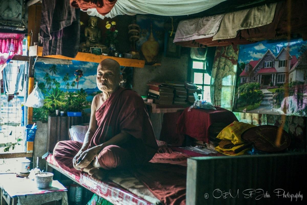 Living quarters inside the monastery. Yangon. Myanmar