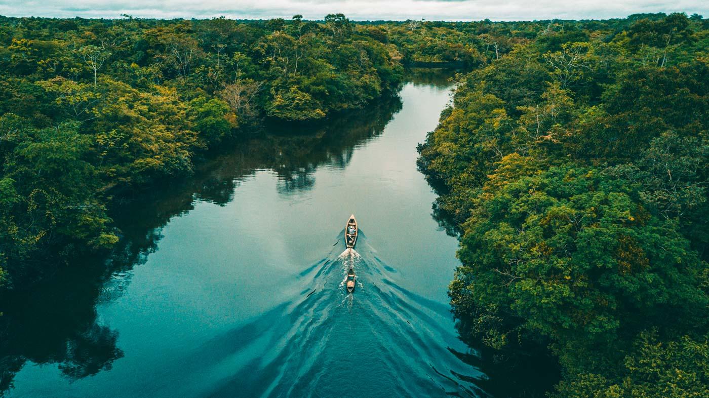 River under the amazon