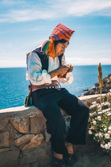 Peru Lake Titicaca Taquile local-5301