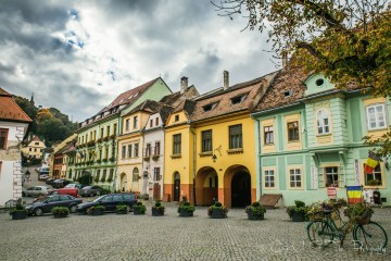 Street in Sighisoara. Romania