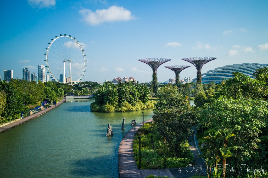 Marina Bay, Gardens by the Bay and Singapore Flyer