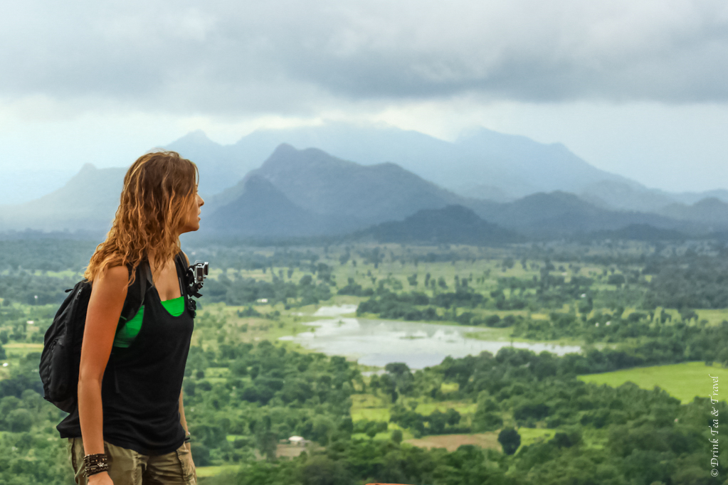 Enjoying the views from Sigiriya rock in Sri Lanka