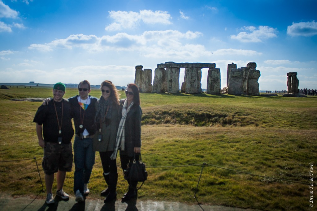 Oksana and friends at Stonehenge, UK