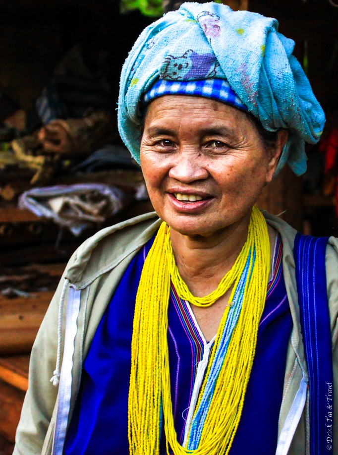 A woman in the Lahu hill tribe village
