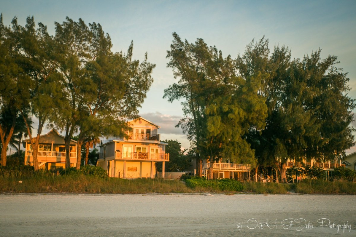 Houses on the beach in Anna Maria Island, FLorida , USA
