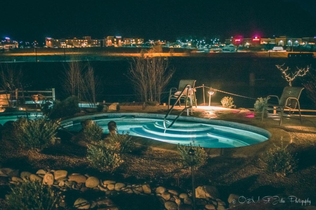 Iron Mountain Hot Springs, Glenwood Springs, Colorado. USA. Road Trip