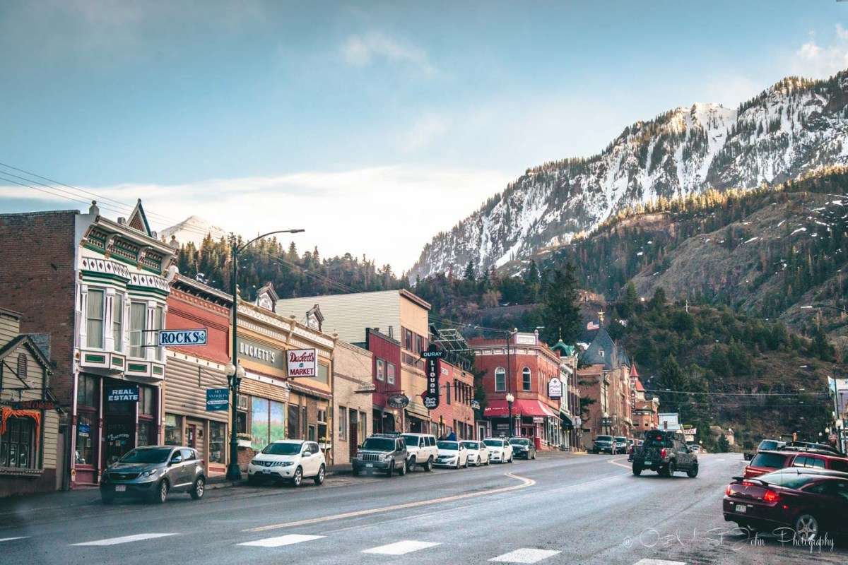 Main street in Ouray, Colorado. USA. Road Trip